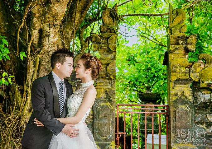 唯美巴厘岛,婚礼摄影,婚礼纪 hunliji.com