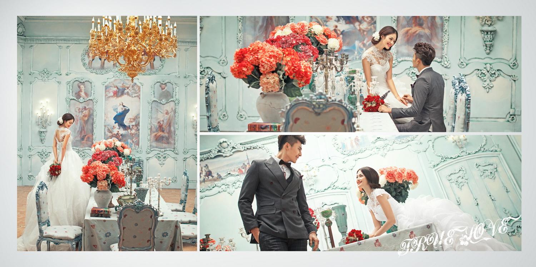 欧式婚纱照图片