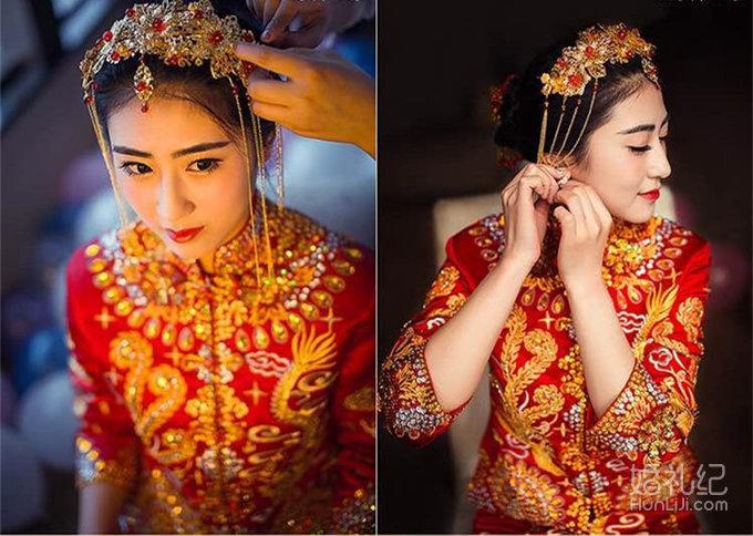 中式造型合集,婚礼化妆师