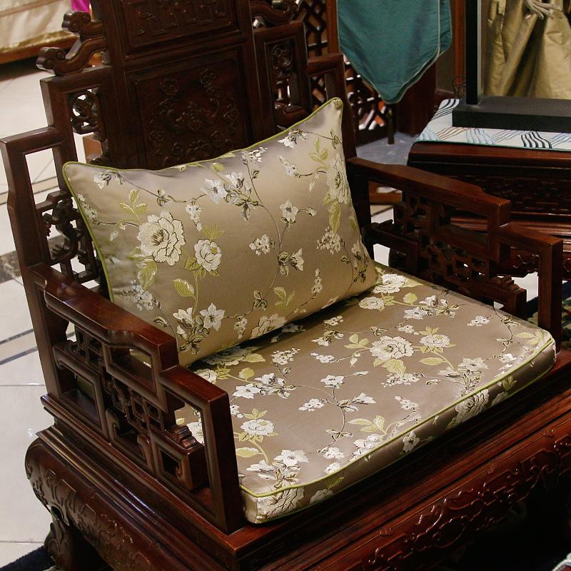 复古典红木沙发靠枕/腰枕