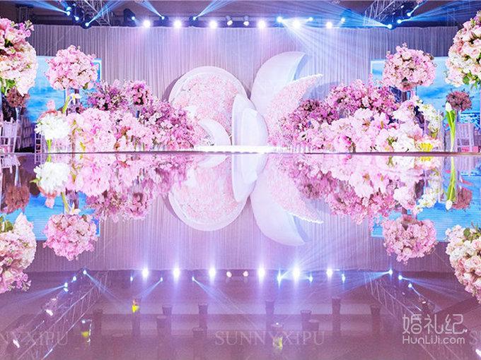 淡粉色的幸福,婚礼策划公司,婚礼纪 hunliji.com