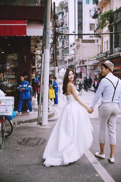 喜匠.麦田 韩式小清新街拍婚纱摄影