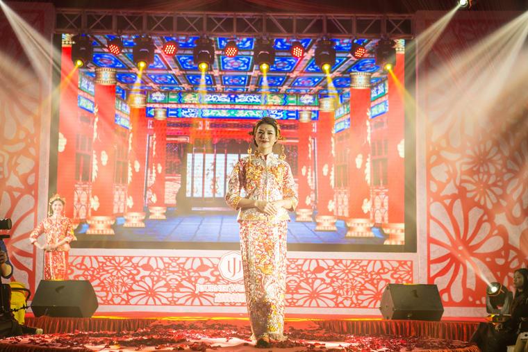 中华传统婚纱礼服-大潮之美