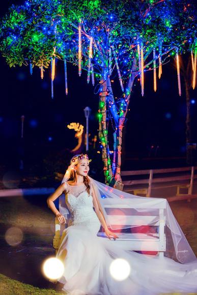 滨海水晶教堂夜景