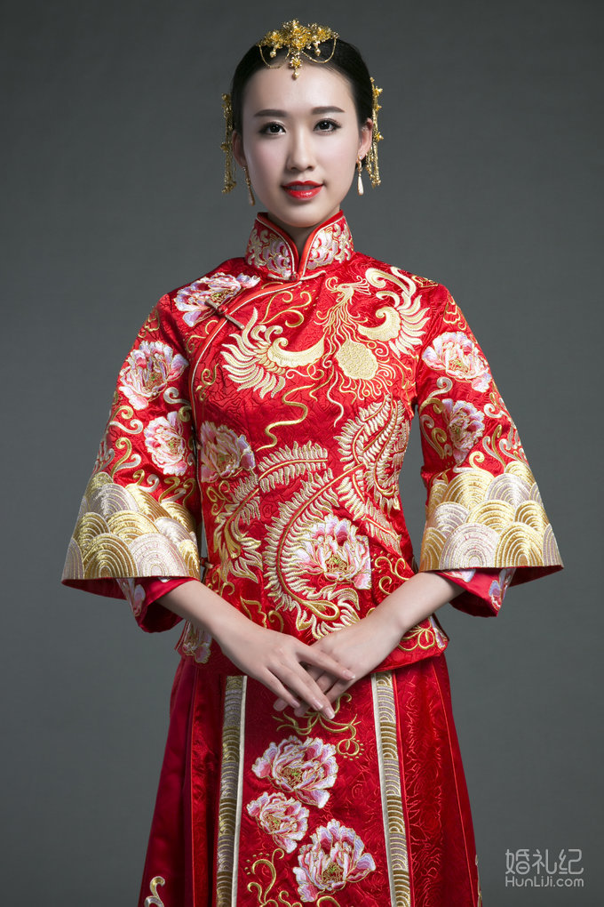 兰墨中式新娘秀禾服,婚纱礼服设计作品欣赏,婚礼纪 ji