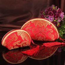 【满29元包邮】中国风喜糖袋锦缎零钱包婚庆用品喜糖包