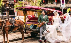 法式印象丽江3天2晚蜜月婚纱创意旅拍6服6造超值
