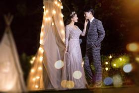 韩式夜景婚纱照