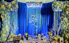 【宝隆婚礼】宝蓝色海洋主题运用大量道具