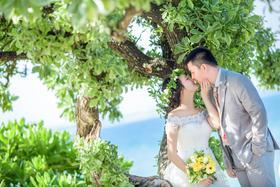 遇见菲林全球旅拍【三亚森系婚纱客片】遇见最美的海
