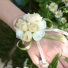 【满29元包邮】 结婚手腕花 韩式新娘伴娘手腕花 带金粉扎头