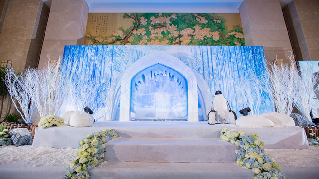 蓝色婚礼布置