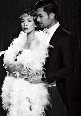 【百合新娘】复古黑白婚纱客照~年代