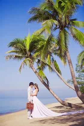 浪漫唯美海滩婚纱照