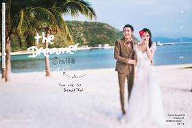 三亚芙拉薇尔婚纱摄影作品-Dreamer+韩式沙滩浪漫风
