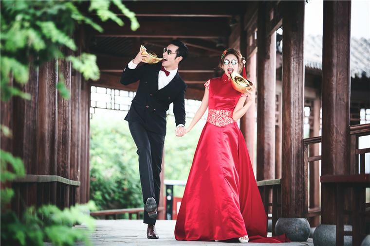 中式复古婚纱照——北京园