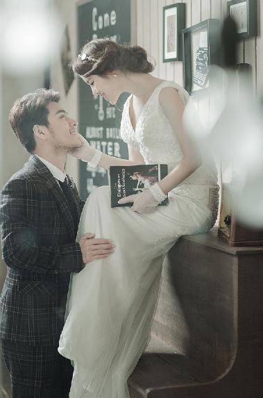 韩式纯美风格婚纱照
