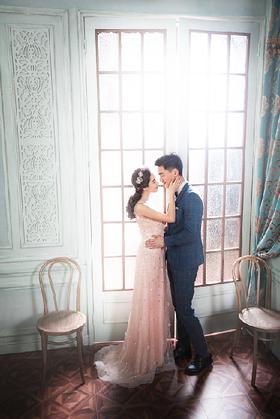 英式典雅的精致婚纱照