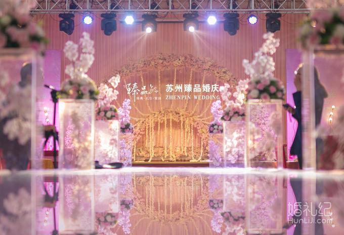 两侧喷绘,樱花拱门