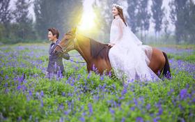 马场清新婚纱照