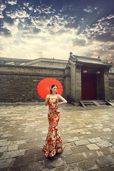 城墙+中式婚纱照