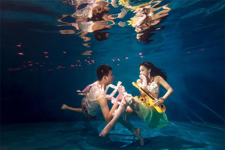 【水下婚纱照】蓝色风情