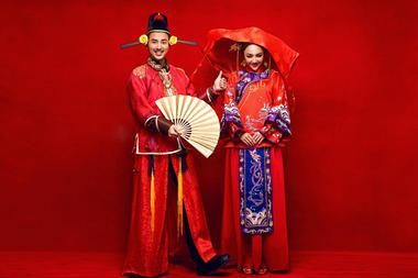 古典美中式婚纱照
