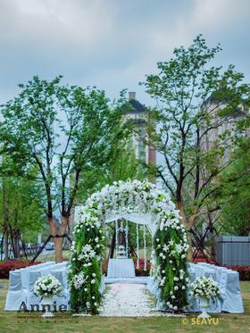 【森系婚礼布置】雨雾森林