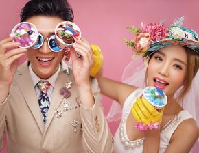 创意内景婚纱照