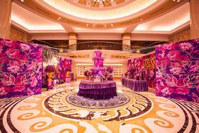 紫粉色系主题婚礼