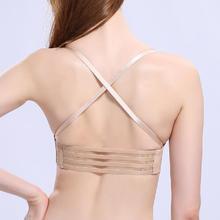 039小胸加厚胸罩超聚拢无肩带无钢圏无痕隐形文胸美背胸衣