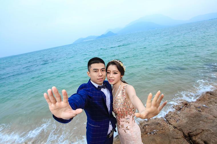 【韩城映像】南亚湾6月客片 海景婚纱照