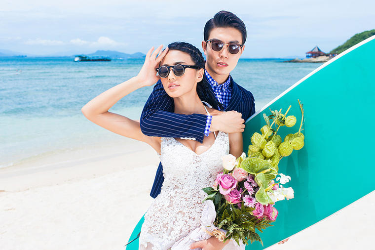 西棠映像 听海主题婚纱照
