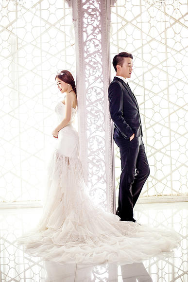 韩式内景婚纱照