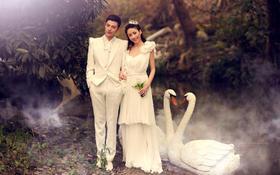 【唯美婚纱照】一生一定要穿一次白白的婚纱,照一张美美的婚纱照