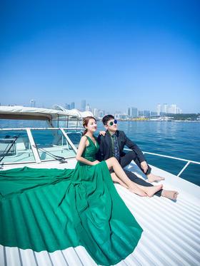 【客片欣赏】青岛游艇系列婚纱照