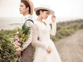 乡间小路清新自然外景婚纱照
