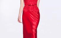 中式红色新娘礼服