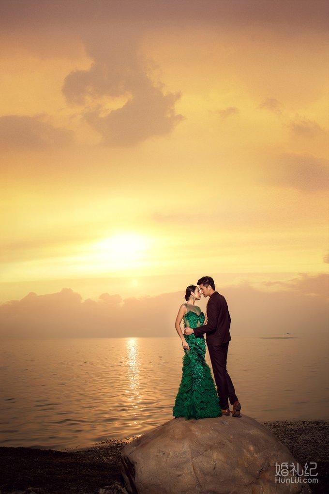 婚纱背景素材黄昏