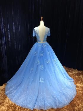 Coco高定 春季新款发布蔚蓝深海美背婚纱系列