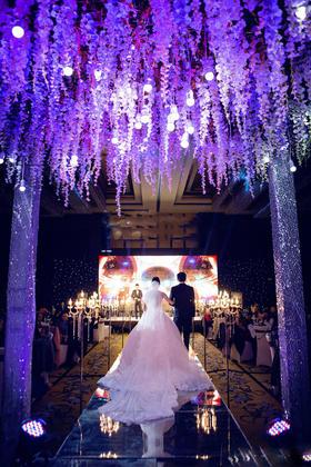 紫罗兰的花海 主题婚礼