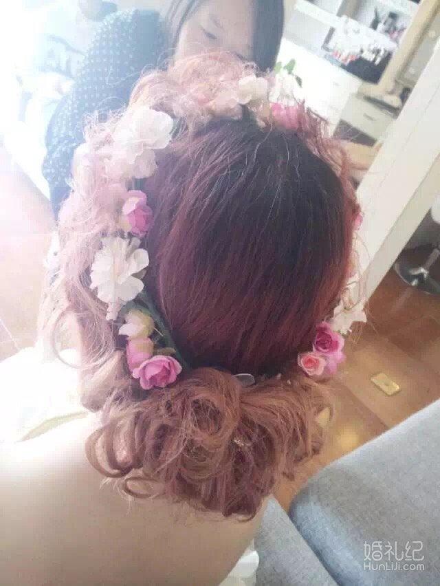 森系清新清透俏皮可爱鲜花唯美当日新娘造型