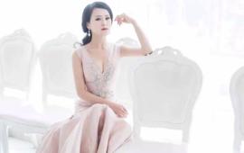 金粉色精致礼服--优雅女人