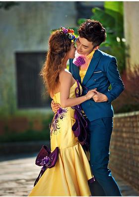 《唯美外景婚纱照》唯美的爱恋