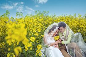 油菜花主题婚纱摄影系列