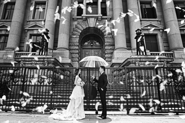 【黑白婚纱客片】薇 拉 极 致 黑 白 视 觉