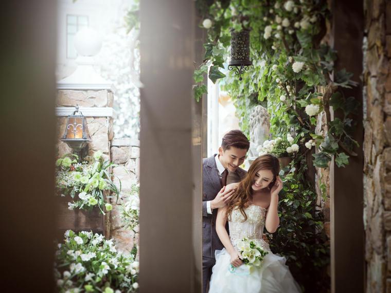 唯美韩式婚纱照+博纳斯花园