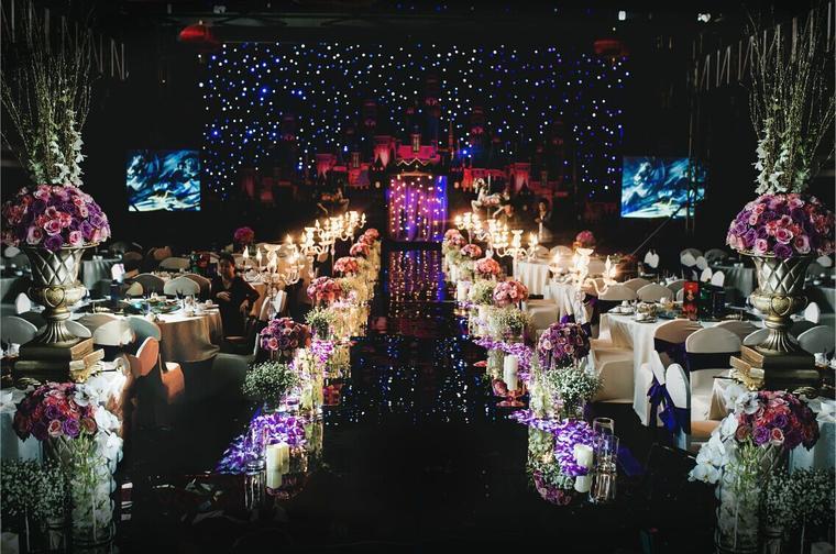 唯美星空城堡主题婚礼