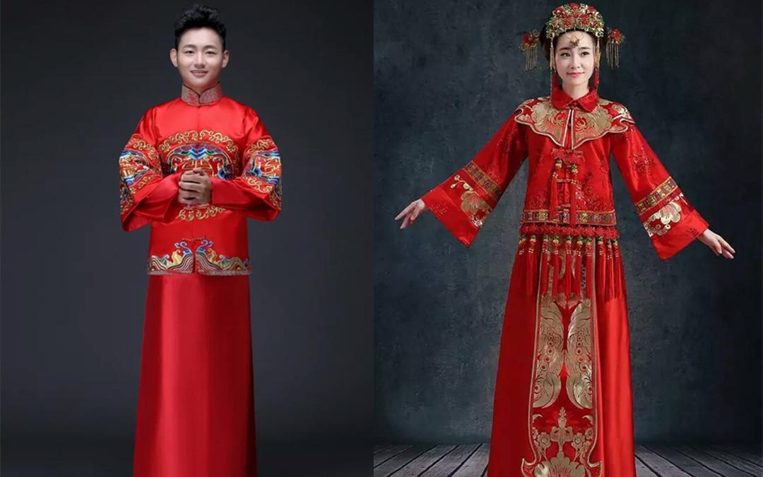 中式男士婚礼礼服