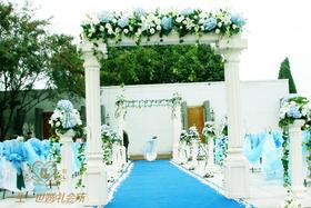 蓝色海洋清新户外婚礼
